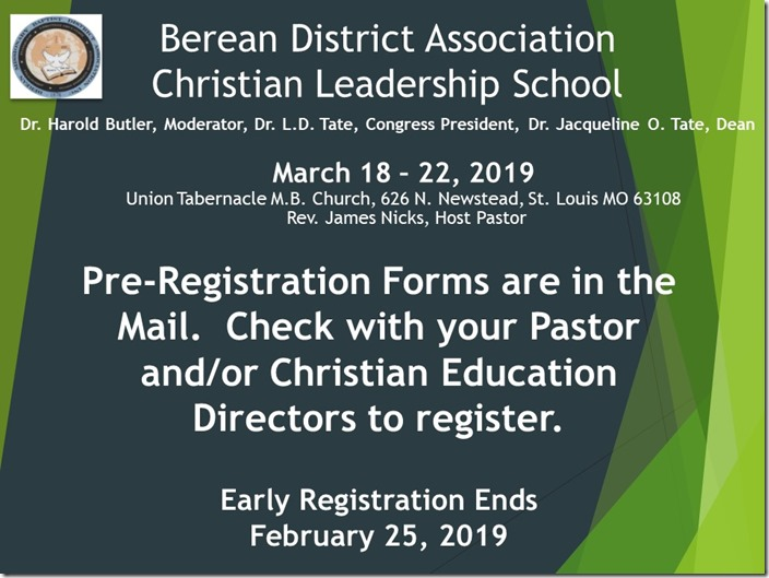 Berean CLS Announcement (003)